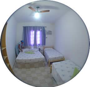 Acomodações do Hotel Mar Caraguatatuba